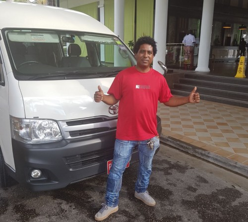 Engelbert Ramcharan, owner of Joe Cool Taxi and Tours