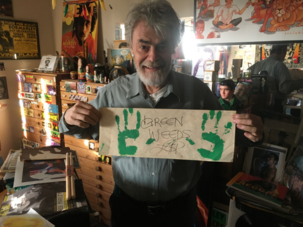 Roger Steffens at the Reggae Archives, December 2016, Los Angeles, California | Courtesy of Stephen A. Cooper