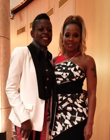 Angie Wells and Mary J Blige