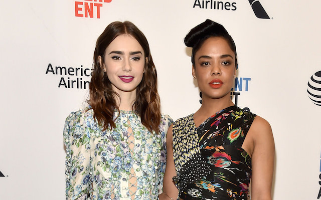 Lily-Colins and Tessa-Thompson