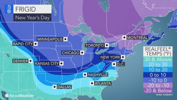 Subzero temps expected on the east coast