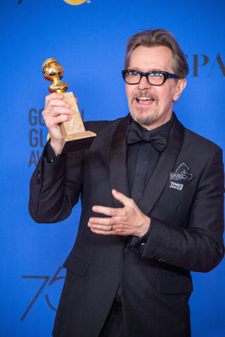 BEST PERFORMANCE BY AN ACTOR IN A MOTION PICTURE – DRAMA for his role in Darkest Hour actor Gary Oldman