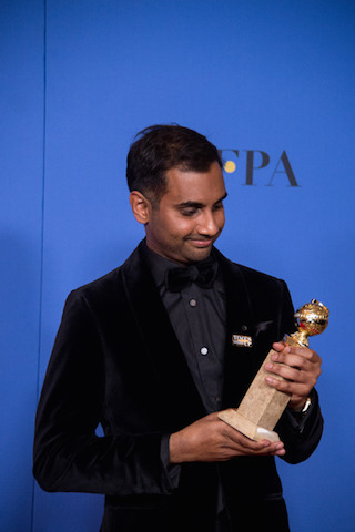 BEST PERFORMANCE BY AN ACTOR IN A TELEVISION SERIES – COMEDY OR MUSICAL for his role in Master of None actor Aziz Ansari