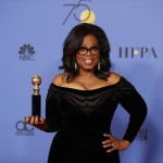 Oprah Winfrey and her  Cecil B. DeMille Award