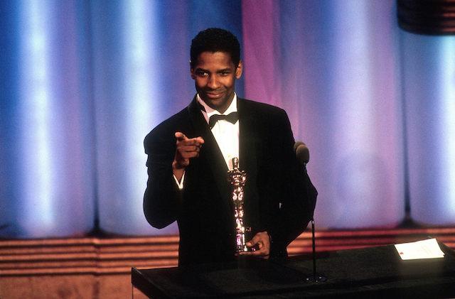 Washington with his first Oscar