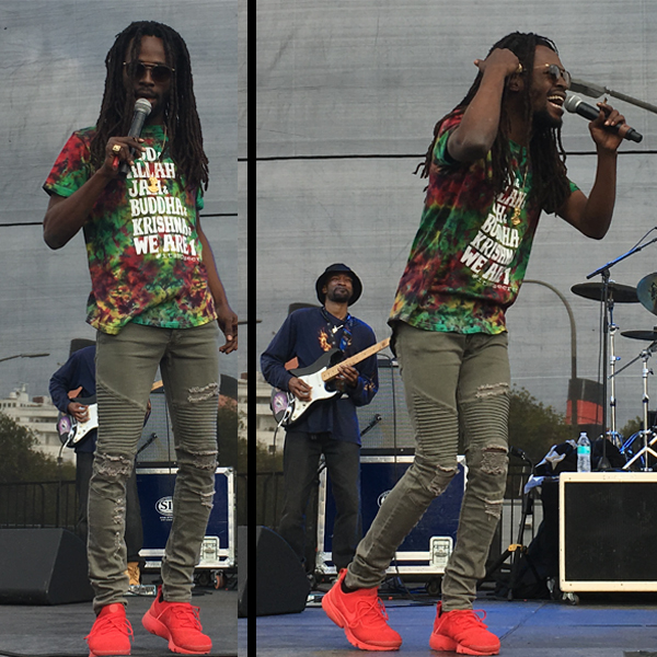 Jesse Royal performing at the 2018 One Love Cali Reggae Festival in Long Beach | Courtesy of Stephen A. Cooper