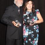 AAFCA Award honorees Edward James Olmos and Claudia Puig