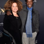 Actors Bridgid Coulter (L) and Don Cheadle