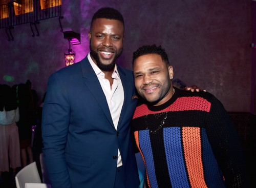 Actors Winston Duke (L) and Anthony Anderson