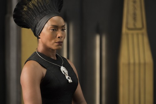 Angela Bassett plays Queen Mother Ramonda