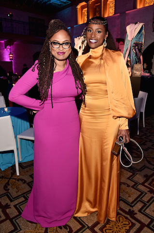 Director Ava DuVernay (L) and actor Issa Rae