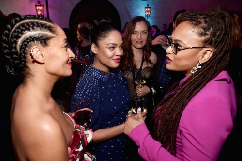 (L-R) Actors Tracee Ellis Ross, Tessa Thompson, and director Ava DuVernay