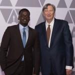 Oscar® nominee Daniel Kaluuya with Academy President John Bailey