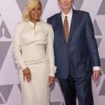 Mary J. Blige with Academy President John Bailey