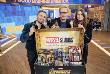 Stars of Marvel Studios' Avengers- Infinity War team up for epic charity event counting down to the launch of movie-related products on March 3     Hasbro and Funko to support by donating millions in cash and toys