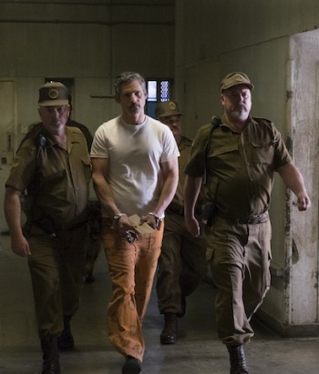 Eric Bana (middle) plays a condemed prisoner in The Forgiven