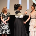 Mindy Kaling, Reese Witherspoon, Oprah Winfrey and Storm Reid speak on stage