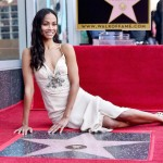 Zoe Saldana Star on Walk of Fame Ceremony