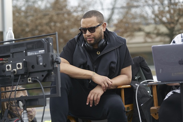 Director X on the set of SUPERFLY