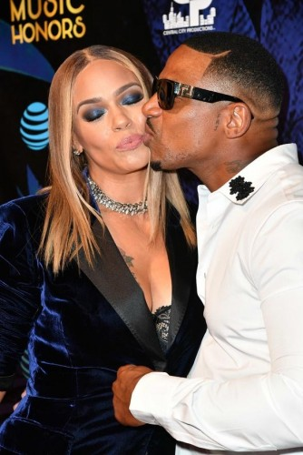 Honoree Faith Evans and her new husband Stevie
