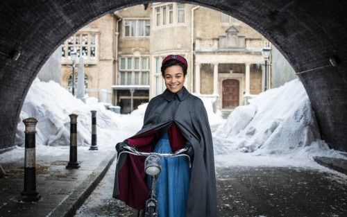 "Newly qualified nurse Lucille Anderson (Leonie Elliott) joins Nonnatus House in ""Call the Midwife"""