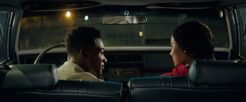 """Algee Smith and Amandla Stenberg in a scene from """"The Hate You Give"""" (20th Century-Fox)"""