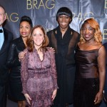 L-R) Kevin Harter, BRAG co-president Nicole Cokley-Dunlap, Elizabeth Marcuse, Miss J. Alexander, BRAG co-president ​Shawn Outler and Dennis Williams (HBO)