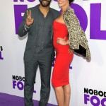 Omari Hardwick (L) and Jennifer Pfautch