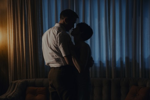 "Ryan Gosling and Claire Foy in a scene from ""First Man."" (Universal Pictures)"