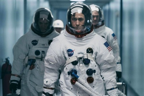 "Ryan Gosling (c) as Neil Armstrong in ""First Man."" (Universal Pictures)"