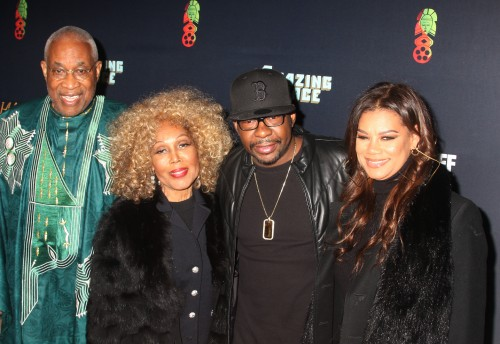 PAFF co-founders Ayoku Babu, Janet DuBois with Bobby Brown
