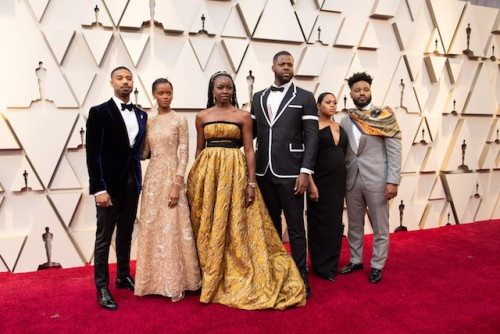 Michael B. Jordan, Letitia Wright, Danai Gurira, Winston Duke, Zinzi Evans, and Ryan Coogler