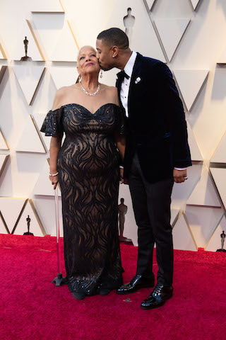 Michael B. Jordan and mom