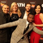 "Executive producer Curtis ""50 Cent"" Jackson and series stars (left-right) J.J. Soria, Elisabeth Röhm, Ryan Kwanten and Katrina Law"