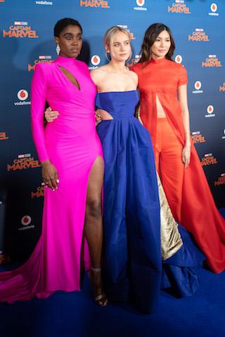 Lashana Lynch, Brie Larson and Gemma Chan