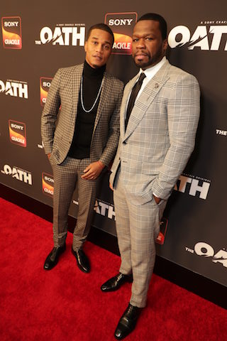 """Series star Cory Hardrict and executive producer Curtis """"50 Cent"""" Jackson"""