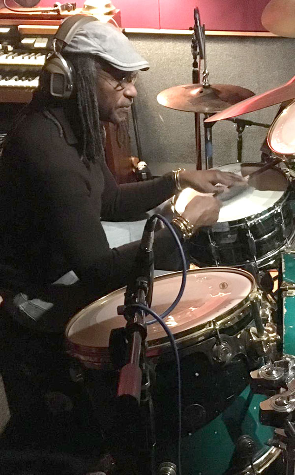 Sly Dunbar at the Studio City Sound, in Studio City, California. Photo courtesy Stephen Cooper