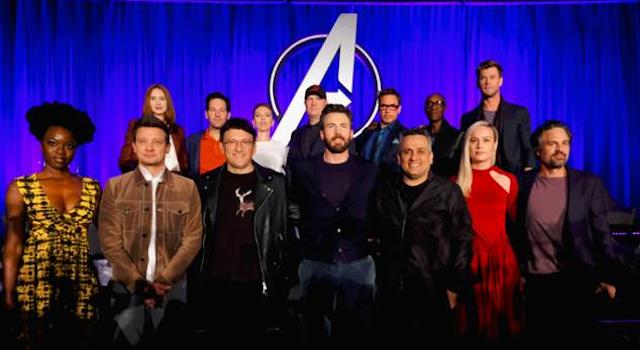The cast of Avengers- Endgame
