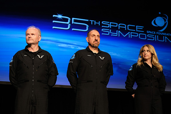 Three Virgin Galactic Crew Presented with Commercial Astronaut Wings at 35th National Space Symposium