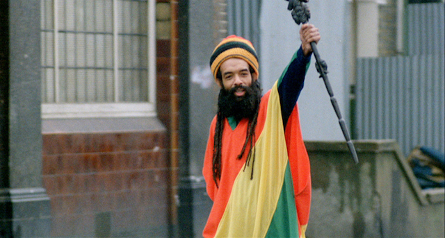 Cosmo Laidlaw as the Rastaman in Franco Rosso's Babylon
