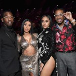 L-R) Offset of Migos, Cardi B, Saweetie, and Quavo of Migos