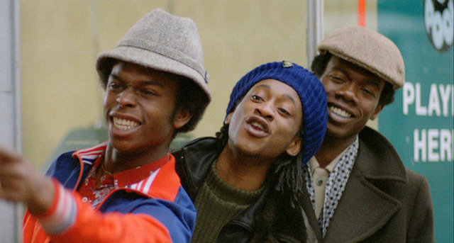 Left to Right  Victor Romero Evans as Lover, Brinsley Forde as Blue, and David N. Haynes as Errol in Franco Rosso's Babylon