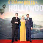 "Quentin Tarantino, actress Margot Robbie and actor Leonardo Di Caprio attend ""Once Upon A Time... In Hollywood"" Premiere in Rome"