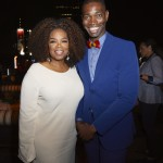 Executive producer Oprah Winfrey with creator and executive producer Tarell Alvin McCraney