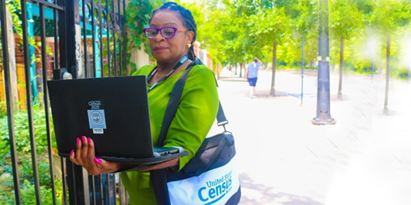 The Census Bureau reports having completed its process of verifying addresses for purposes of mailing notifications about the 2020 Census. Now, it is hiring thousands of enumerators who will go door-to-door next spring to collect information from those who do not respond to the online questionnaires.  PHOTO CREDIT: Photo courtesy of Census Bureau