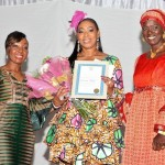 Monolisa (middle) is recognized for her impact in the community