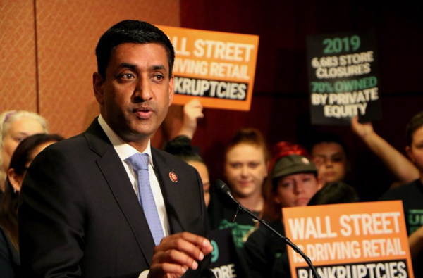 """California Congressman Ro Khanna, D-Fremont, attended a rally for worker rights in the U.S. Capitol building in July. Khanna, in a teleconference with ethnic media journalists on Tuesday, Nov. 12, said he supports efforts to reclassify """"gig economy"""" workers, protect DACA and encourage social media platforms to step up efforts to ensure the reliability of news and advertising presented on their sites"""