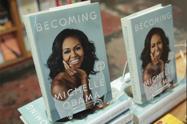Michelle Obama book titled Becoming