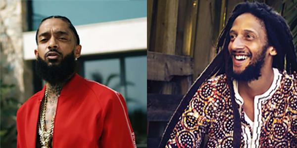 Nipsey Hustle and Julian Marley