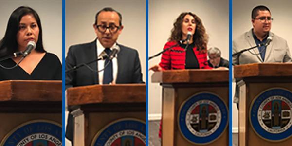 L to R: DACA Recipient, Rigoberto Reyes, Lara Yeretsian and DACA Recipient